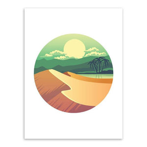 Modern Adventure Canvas Art Poster-Canvas-Venture Modern-13x18 cm No Frame-scenery Green hill-Venture Modern