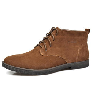Nubuck Leather Casual Lace Up Desert Chukka Ankle Boot-boot-Venture Modern-Brown-6-Venture Modern