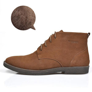 Nubuck Leather Casual Lace Up Desert Chukka Ankle Boot-boot-Venture Modern-Brown plush-6-Venture Modern