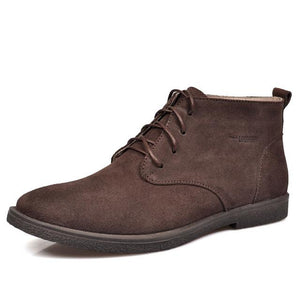 Nubuck Leather Casual Lace Up Desert Chukka Ankle Boot-boot-Venture Modern-Coffee-6-Venture Modern