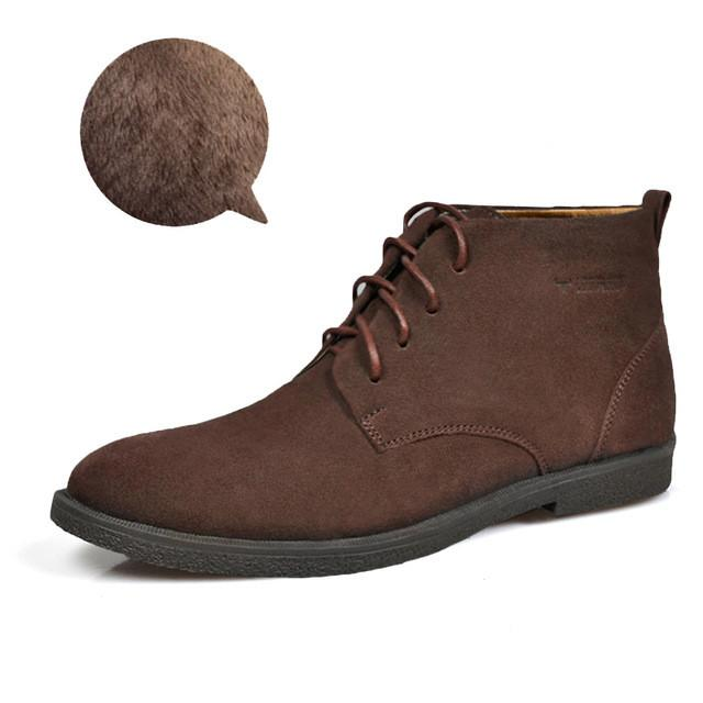 Nubuck Leather Casual Lace Up Desert Chukka Ankle Boot-boot-Venture Modern-Coffe plush-6-Venture Modern