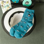 Simple Eye Socks-w sock-Venture Modern-Sky Blue-One Size-Venture Modern