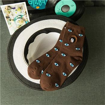 Simple Eye Socks-w sock-Venture Modern-Brown-One Size-Venture Modern