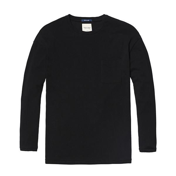 Pure and Nature Long Sleeve Top-Shirt-SIMWOOD-black-XXXL-Venture Modern