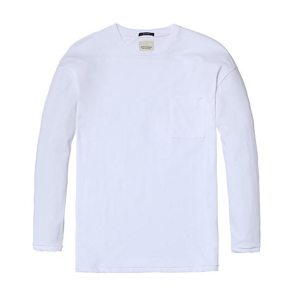 Pure and Nature Long Sleeve Top-Shirt-SIMWOOD-white-XXXL-Venture Modern