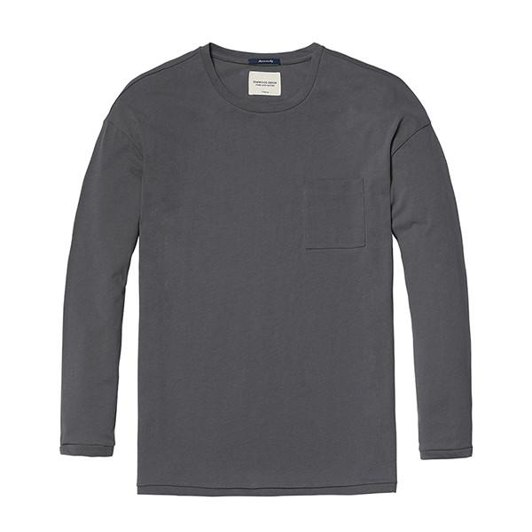 Pure and Nature Long Sleeve Top-Shirt-SIMWOOD-gray-XXXL-Venture Modern