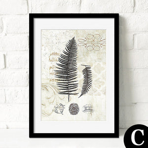 Botanical Leaves Abstract Canvas Art Poster-Art Poster-Venture Modern-23x30cm no frame-C-Venture Modern