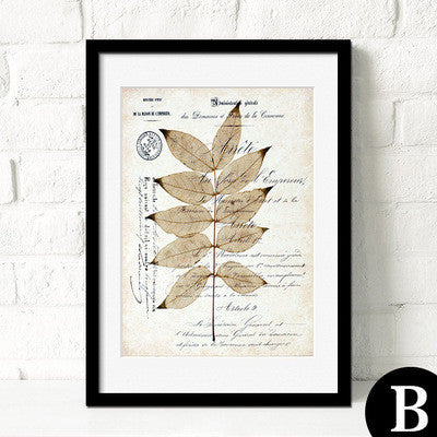Botanical Leaves Abstract Canvas Art Poster-Art Poster-Venture Modern-23x30cm no frame-B-Venture Modern