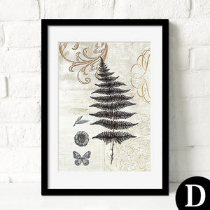 Botanical Leaves Abstract Canvas Art Poster-Art Poster-Venture Modern-23x30cm no frame-D-Venture Modern