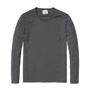 Spring Long Sleeve T-Shirt-Shirt-SIMWOOD-gray 2nd-S-Venture Modern