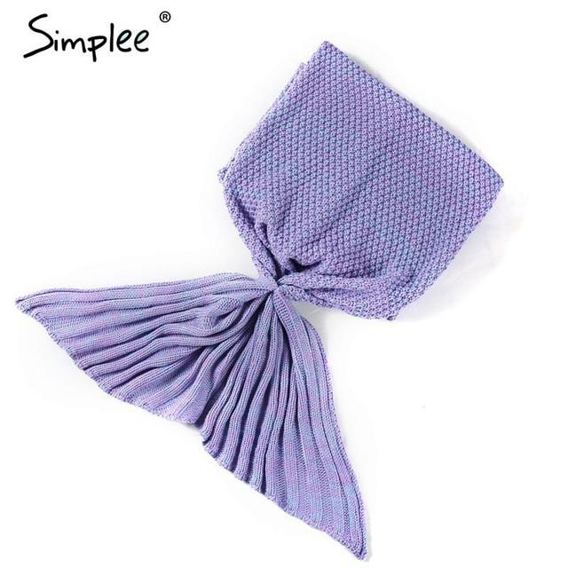 Mermaid Tail Blanket-blanket-Simplee-Purple-One Size-Venture Modern