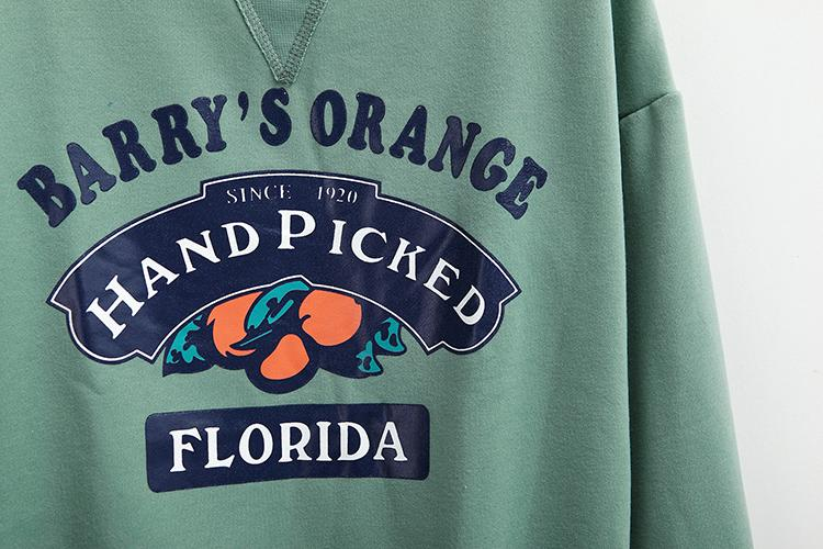 Barry's Orange Hand Picked Florida Sweatshirt-w sweatshirt-Venture Modern-Venture Modern