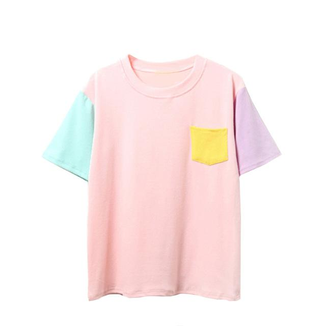 80's Themed Quad Colored Top-w tee-Venture Modern-Venture Modern
