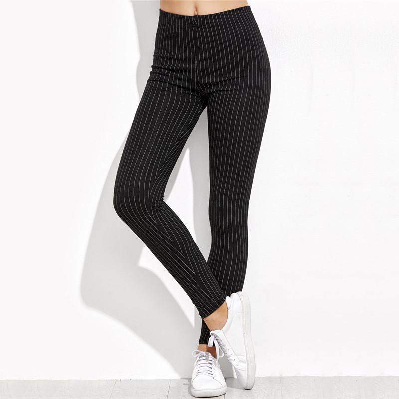 Vertical Stripe Casual Leggings-w leggings-Venture Modern-Venture Modern