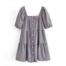 Load image into Gallery viewer, GINGHAM BABYDOLL DRESS