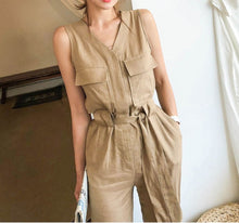 Load image into Gallery viewer, RIBBON TIE CASUAL JUMPSUIT