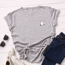 Load image into Gallery viewer, PEEKABOO BUNNY PRINTED TEE