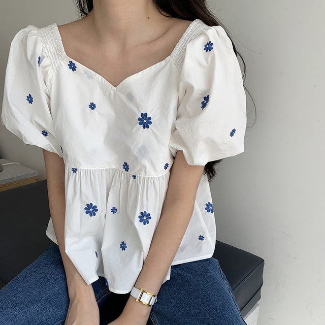 JAMIE EMBROIDERY TOP