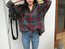 Load image into Gallery viewer, WELLO CHECKERED BLOUSE