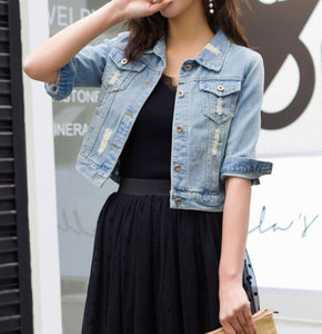 JOR DENIM CROP JACKET