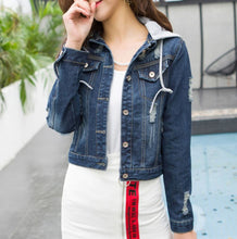 Load image into Gallery viewer, GWENDA HOODIE DENIM JACKET