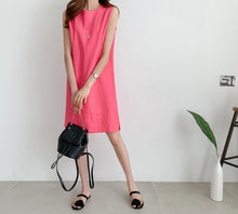Load image into Gallery viewer, SLIM CUT A LINE LINEN DRESS