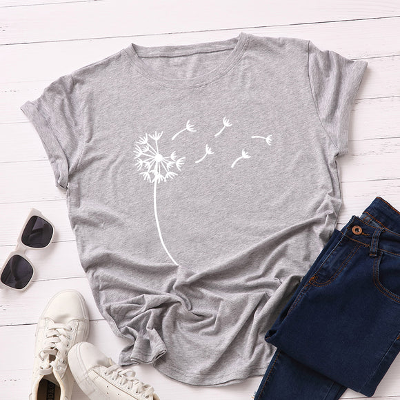 SCATTERED FLORAL PRINTED TEE