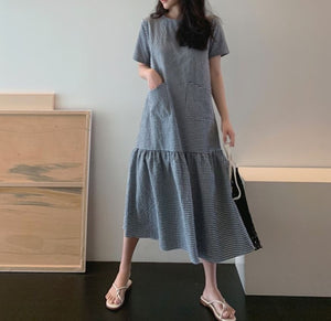 MESSI GINGHAM MIDI DRESS