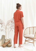 Load image into Gallery viewer, ALMA PYJAMAS IN TERACOTTA LONG PANTS