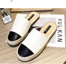 Load image into Gallery viewer, QUILTED CHIC LOAFER SLIDERS