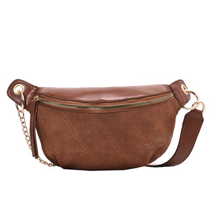 SUEDE CHAIN CROSS BODY BAG