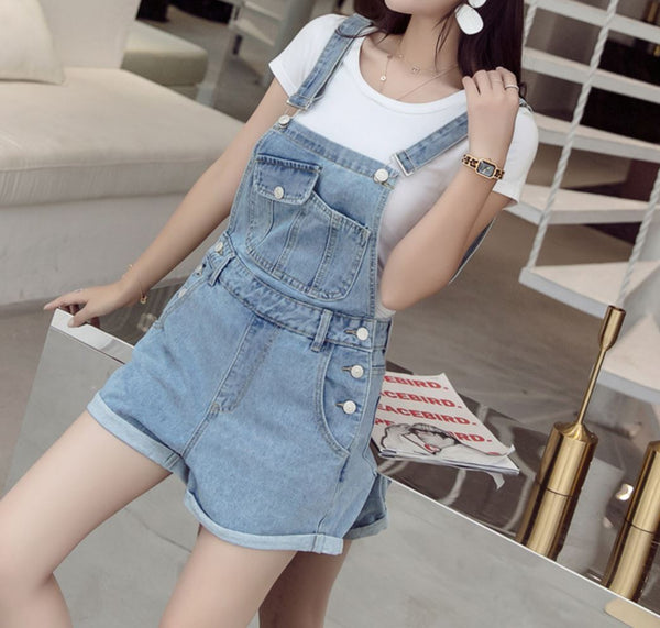 REEKA DENIM PLAYSUIT