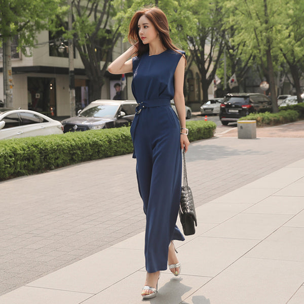 LOVELL FLARE CUT JUMPSUIT