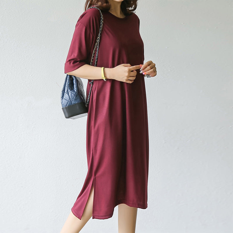 MID SLEEVE BREEZY DRESS