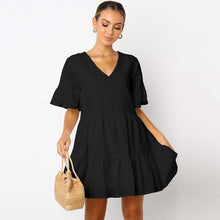 Load image into Gallery viewer, FLUTTER SLEEVE BABY DOLL DRESS