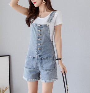 NAOMI DENIM PLAYSUIT