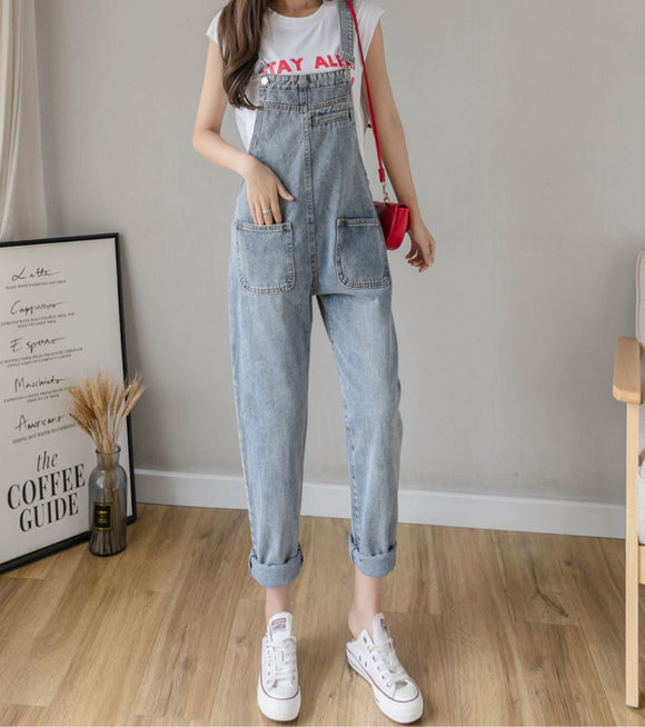 JAMIE DENIM PLAYSUIT