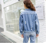 MELODY DENIM RIPPED JACKET