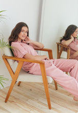 Load image into Gallery viewer, PARISIAN PYJAMAS IN PINK LONG PANTS