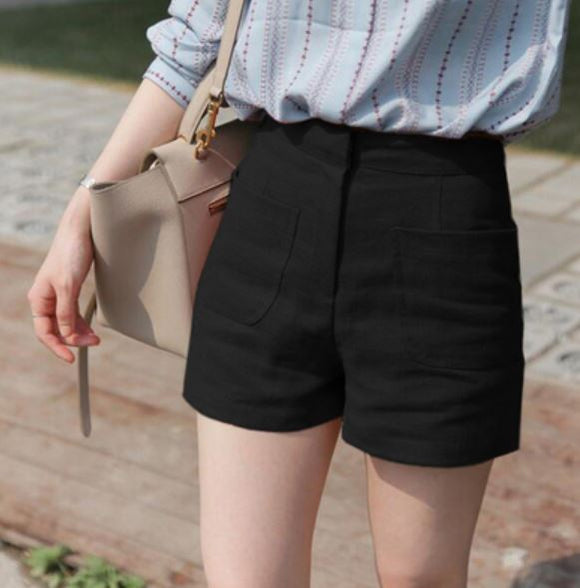 DUO POCKET LINEN SHORTS