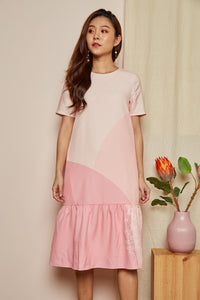 REUNION SLEEVE DROP WAIST DRESS