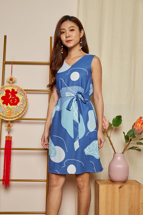 KENNY 4 WAY REVERSIBLE DRESS (BLUE)