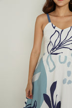 Load image into Gallery viewer, DOODLE ABSTRACT DRESS (BLUE)