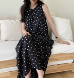 MARINA POLKA MIDI DRESS