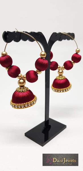 Silk Thread Jhumka 19