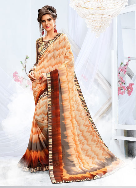 Gorgeous Saree In Off White Color 149