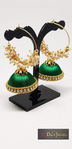 Silk Thread Jhumka 9