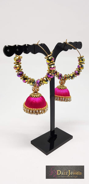 Silk Thread Jhumka 11