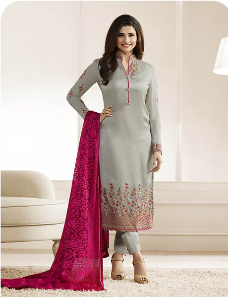 Arpana Salwar Kameez 5 Designer Wedding Embroidery Grey Georgette Salwar Suit