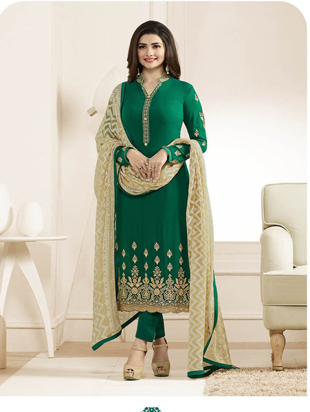 Arpana Salwar Kameez 6 Designer Wedding Embroidery Green Georgette Salwar Suit